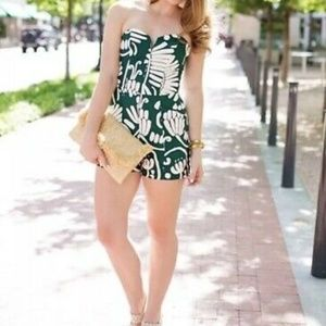 H&M Conscious Green White Tropical Abstract Floral